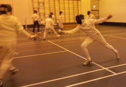 Fencing Epee at Swords Fencing Club Wallasey